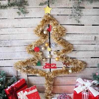 크리스마스 샤틴모루 벽트리 세트 (골드)