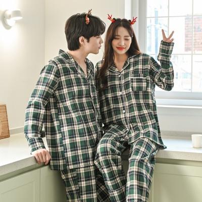 기모체크 겨울 커플 잠옷 홈웨어