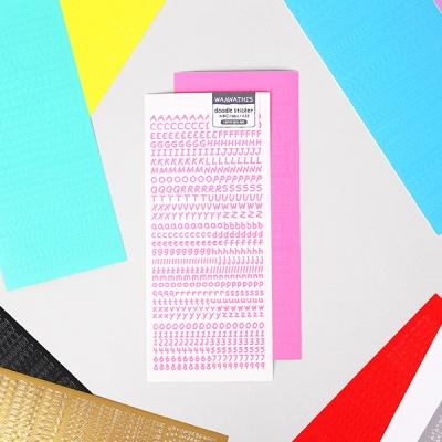 끄적끄적 알파벳 숫자 스티커 10가지 컬러
