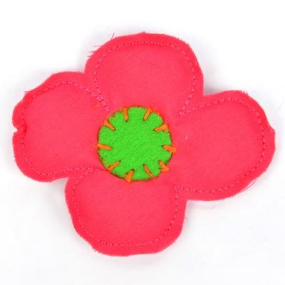 [헤어보우] 비비드플라워 헤어핀-Pink