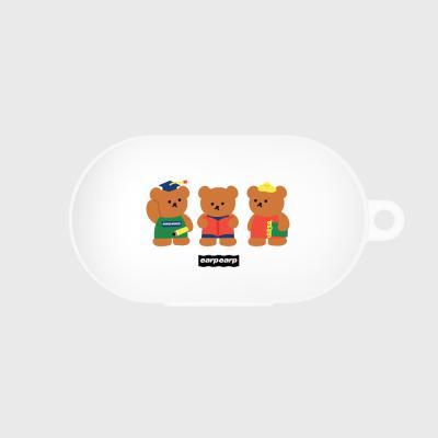 Smart bear friends-white(Buds jelly case)