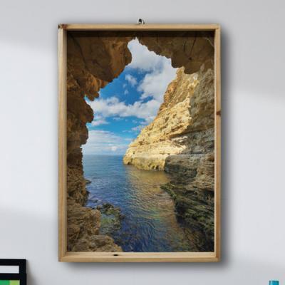 tg744-우드프레임액자_동굴안의바다세로형