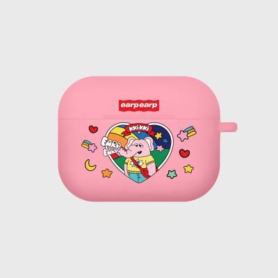 kkikki always happy-pink(Air pods pro case)