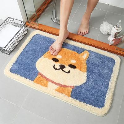 웰시코기 욕실 발매트 바닥매트