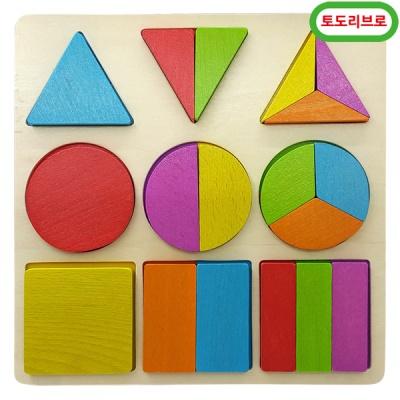 토도리브로 원목도형분할입체판퍼즐