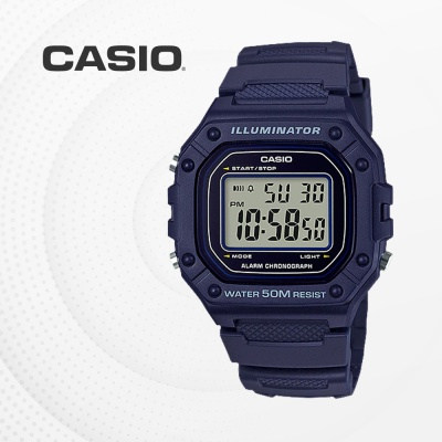 카시오 군인 군용 전자 남성 손목시계 W-218H-2A