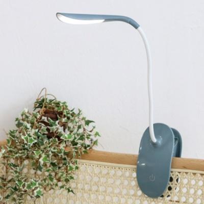 아이린 충전식 무선 집게형 LED 스탠드,블루