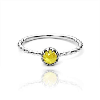 SOHA 4월 천연탄생석 다이아몬드 14k반지