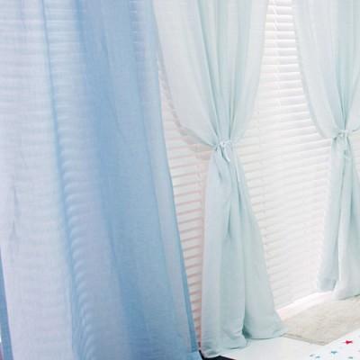 [정사이즈특가]달콤햇살 린넨커튼 - 블루 100*230cm