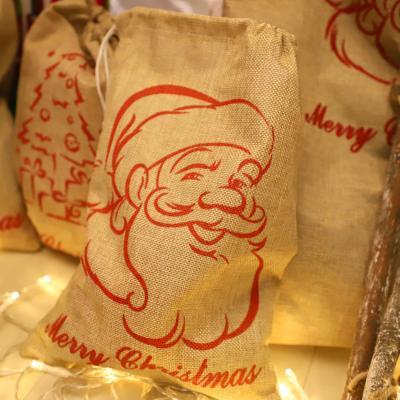 크리스마스 패브릭 선물자루 (소형 / 산타)