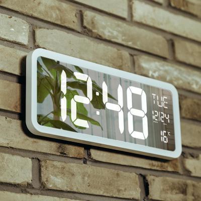 오리엔트 OT874WH 빅 미러 화이트LED 디지털시계