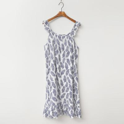 Palm Tree Sleepwear Dress