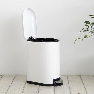 [바이홈]밀리 무소음 페달 휴지통 슬림형 10L