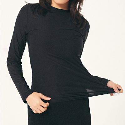 [1+1] 여성 이너 히트 라운드 티셔츠