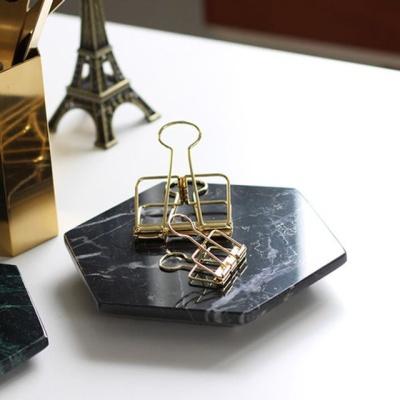 육각 천연대리석 마블 트레이 네로마퀴나 150_150