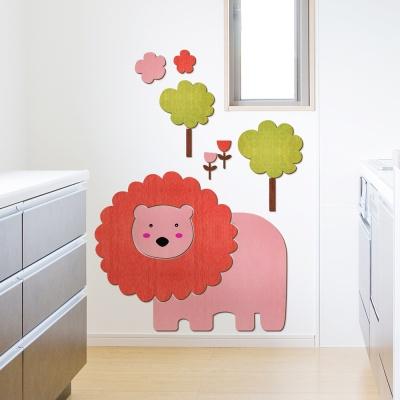 [우드스티커] 사자와숲 (컬러완제품) W548