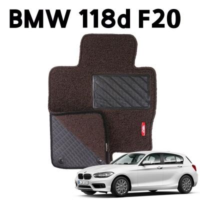 BMW 118d F20 이중 코일 차량 차 발 매트 DarkBrown