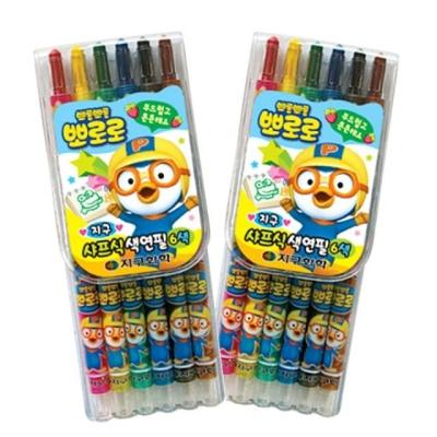 뽀로로 샤프식 색연필 6색 X2개 캐릭터색연필 학용품