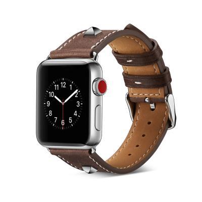 애플워치 밴드 1 2 3 4 5 스트랩 시계줄 가죽 스터드