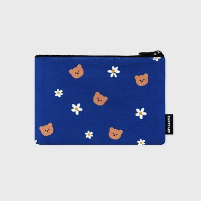 Dot flower bear-blue(파우치)(S)
