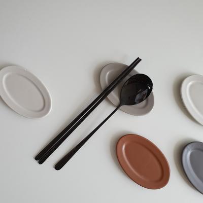 포홈 모던무광 타원 수저받침 4P세트 (4color)