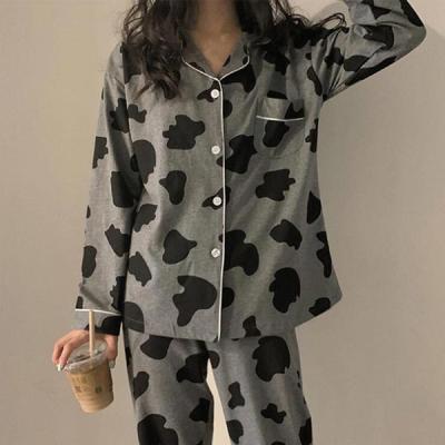 비어크 여성잠옷 긴팔 젖소 홈웨어 파자마세트