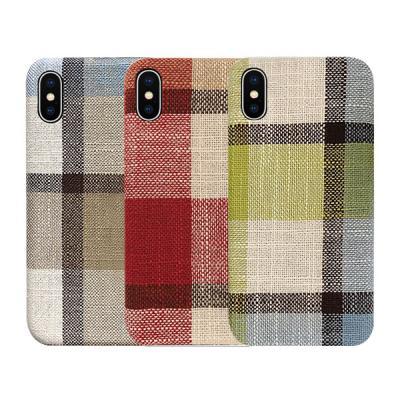 P193 아이폰11프로 체크패턴 패브릭 심플 젤리 케이스