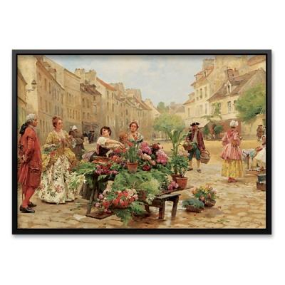 1000조각 직소퍼즐▶ 18세기의 시장 풍경 (PK1000-3149)