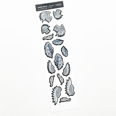 푸푸남 천사날개 [화이트 블루] 씰스티커