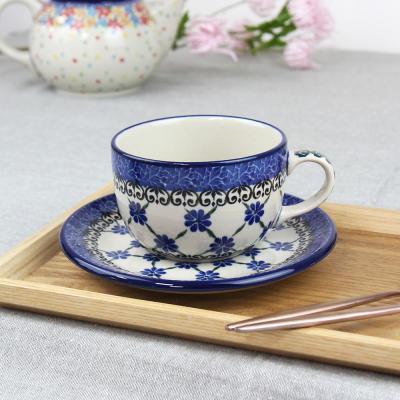 폴란드그릇 아티스티나 티잔&소서세트 200ml 패턴1491