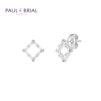 폴브리알 PYBE0097 (WG) 사각 큐빅 귀걸이 小