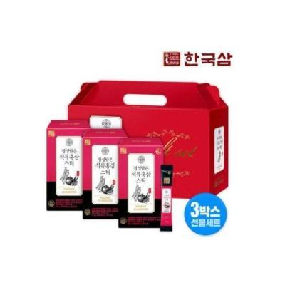 한국삼 정성담은 석류 홍삼스틱 10g x 30포 3박스