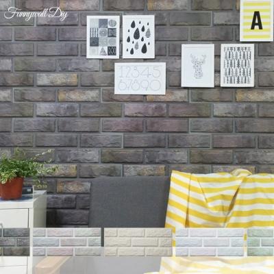 퍼니월 붙이는 플라스틱 파벽돌 벽지 (5Color)
