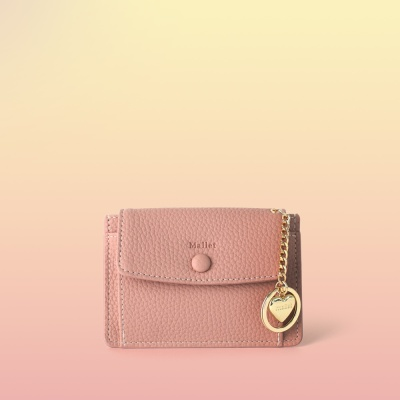 [이니셜 커스텀] Big pocket point wallet _ Pink