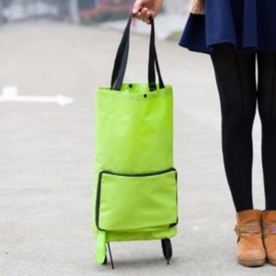 휴대용 접이식 장바구니 캐리어 쇼핑 카트 가방