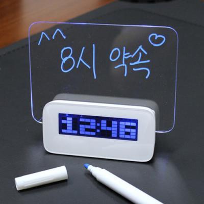 다기능(온도계알람외) 만능메모보드B 디지털시계170HS