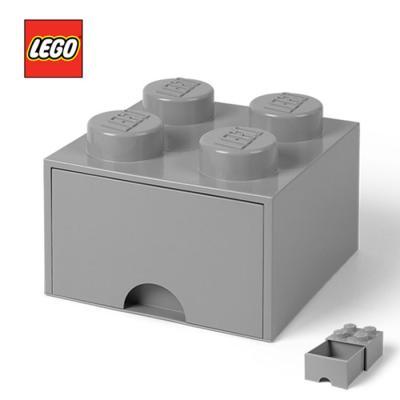 [LEGO]레고 블럭 서랍 정리함 4구_그레이/ 서랍형