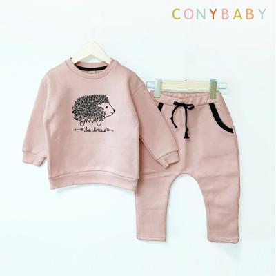 [CONY]고슴도치 핑크 기모맨투맨 상하복세트