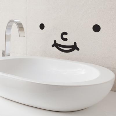 화장실 포인트 스티커 해피 스마일