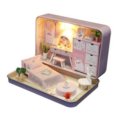 DIY 미니어처 틴케이스 - 핑크 침실