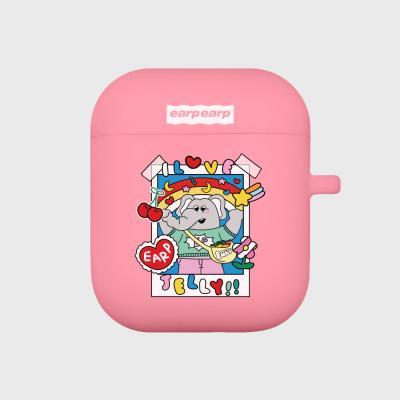 kkikki love jelly-pink(Air pods)