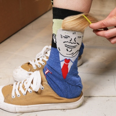 핵인싸템 트럼프 양말 2color 캐릭터 웃긴 독특한양말