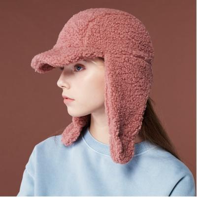 [리끌로우] 귀도리 모자 진핑크