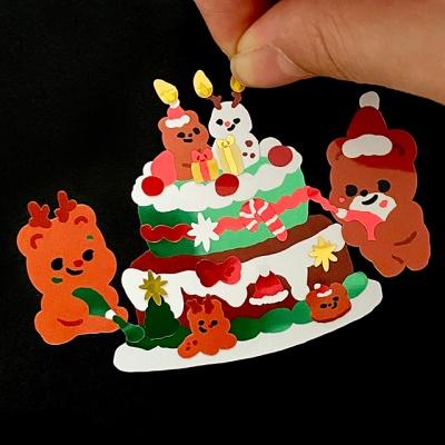 크리스마스 케이크 꾸미기 광택 스티커