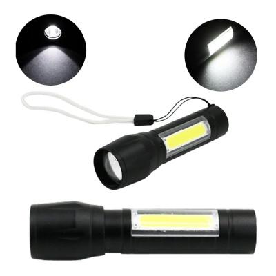 미니 LED 충전식 줌 손전등 작업등 캠핑랜턴 COB