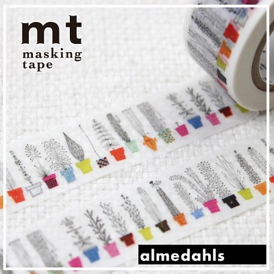 폭20mm-북유럽 리빙 브랜드 Almedahls 작품-일본 mt 디자인 마스킹테이프 화분 hd306-Alme03