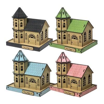 DIY나무모형 마을 시리즈3 하우스
