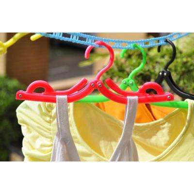 미니멀 휴대용 접이식 옷걸이 5p1세트(색상랜덤)