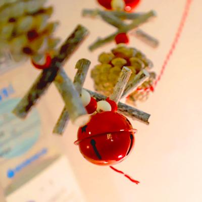 빈티지 목재 가랜드 (빨간종 / 1.5m)