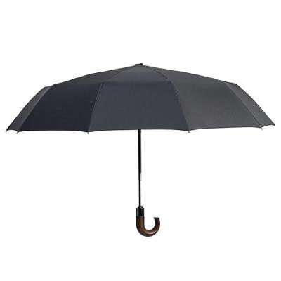 곡자 우드 그립 전자동 3단 우산 CH1416518